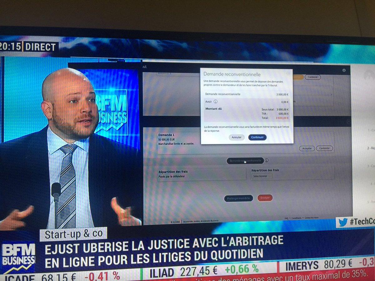 """@eJust_fr en direct sur #BFMBusiness. """"eJust fourni un service simple, rapide, peu coûteux et c'est pour tout le monde B2B et B2C"""" pic.twitter.com/umdMtM94Wm"""