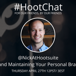 Have you put thought into your personal brand? We're discussing how to grow your brand online with @NickAtHootsuite for #HootChat tomorrow!