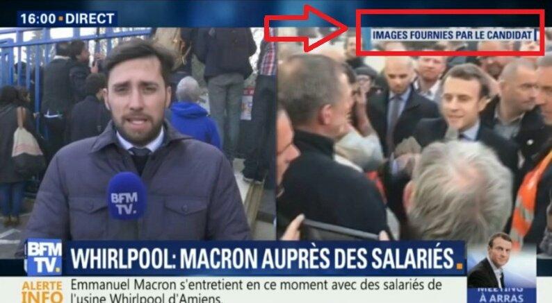 #Whirlpool Sympa #BFM  Donc Macron donne des images à Drahi pour que BFM diffuse... C'est bô la com...mais attention. ..ça ne dure. ..pas.. pic.twitter.com/ZGynan5PVj