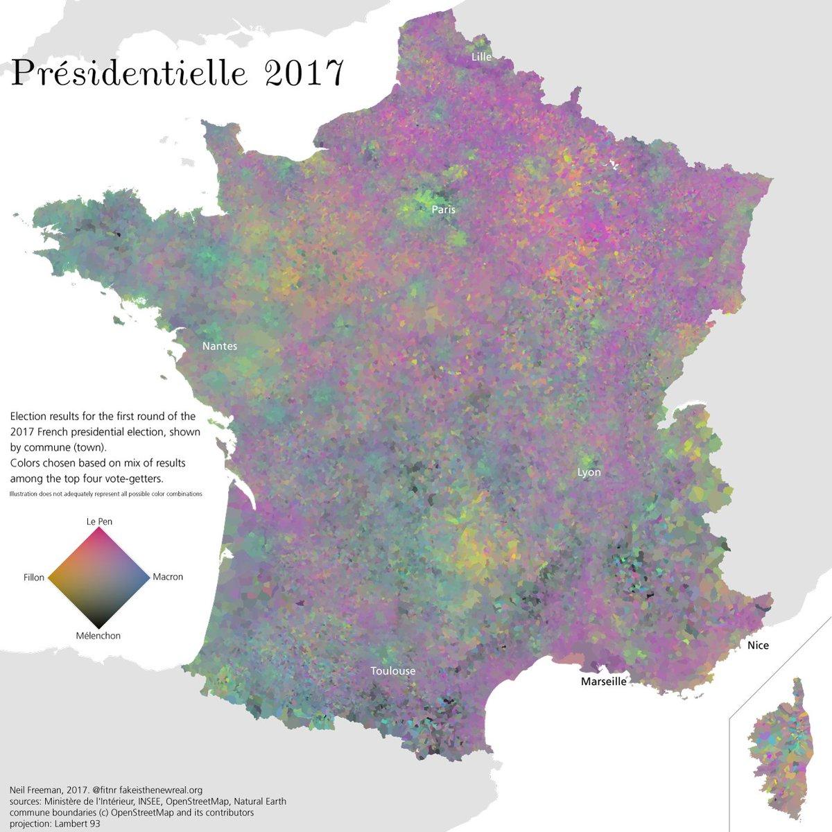 Data Visualization Coloremaps Twitter - Neil freeman us map