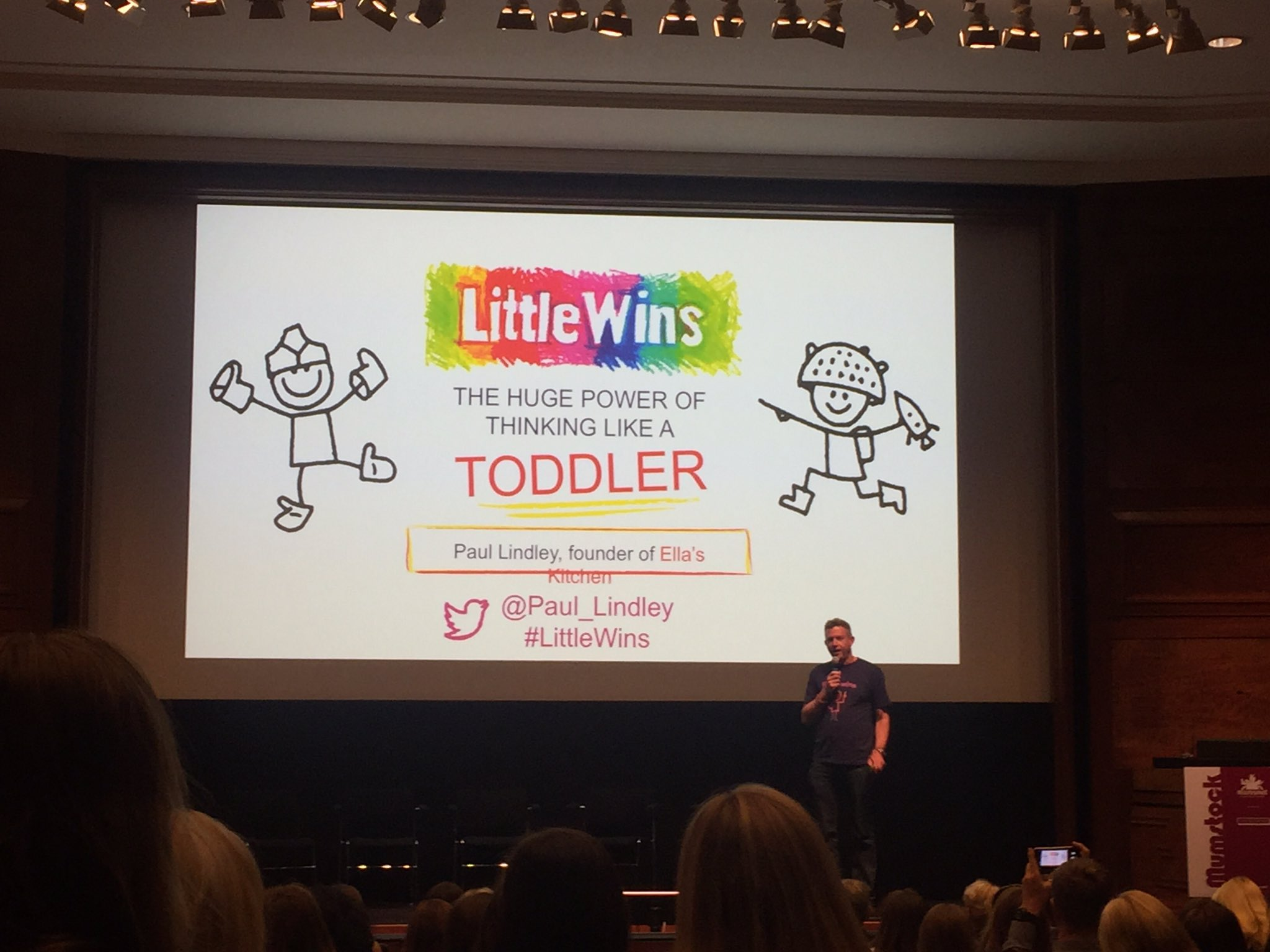 Our final speaker today at #mumstock, the wonderful @Paul_Lindley from @EllasKitchenUK https://t.co/b0WUfuIFUF