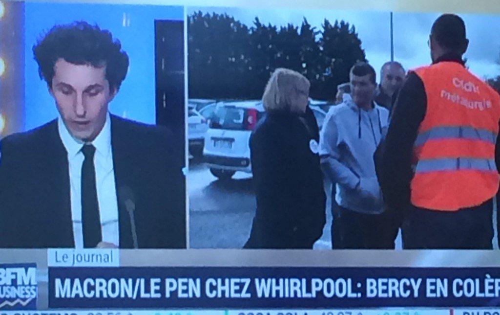 """Bercy """"effondré"""" par le spectacle Whirlpool """"pour faire fuir les repreneurs, c'est la meilleure méthode"""" #BFMbusiness pic.twitter.com/vJ0uLMQSuE"""
