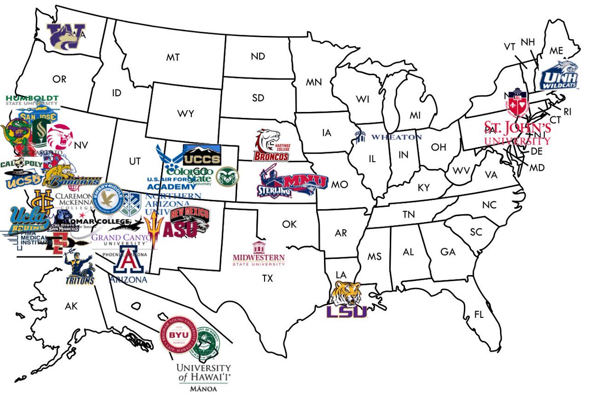 MHHS College Map MHHSCollegeMap Twitter - Air force academy map