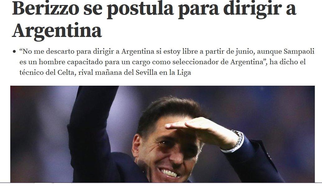 Eduardo #Berizzo (#Celta) n'exclut pas la possibilité de devenir sélectionneur de l'Argentine (MD) pic.twitter.com/b26RaCU1vz