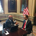 Great to be @WhiteHouse w/ @davidwebbshow this AM and talking about @POTUS First #100Days accomplishments.