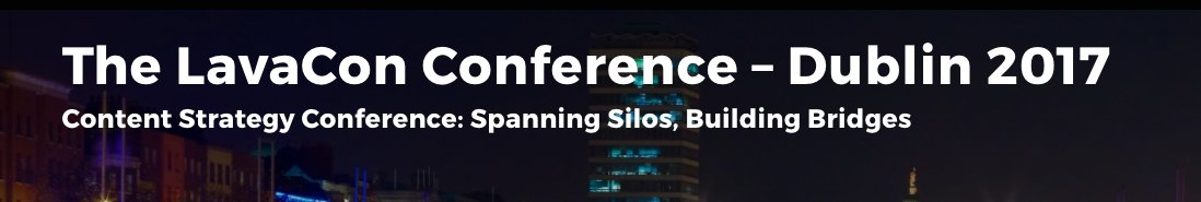 I&#39;m keynoting @LavaCon Dublin! Use ref code TeamAndersPink for 20% off conference tuition #ContentStrategy #UX #UE  http:// buff.ly/2paftSR  &nbsp;  <br>http://pic.twitter.com/qbReZbUhak