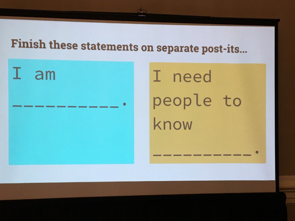 gr8 post it note group activity to build empathy by @mattscully @rwelsh8 #ATLISac https://t.co/XnpKHB7iXF
