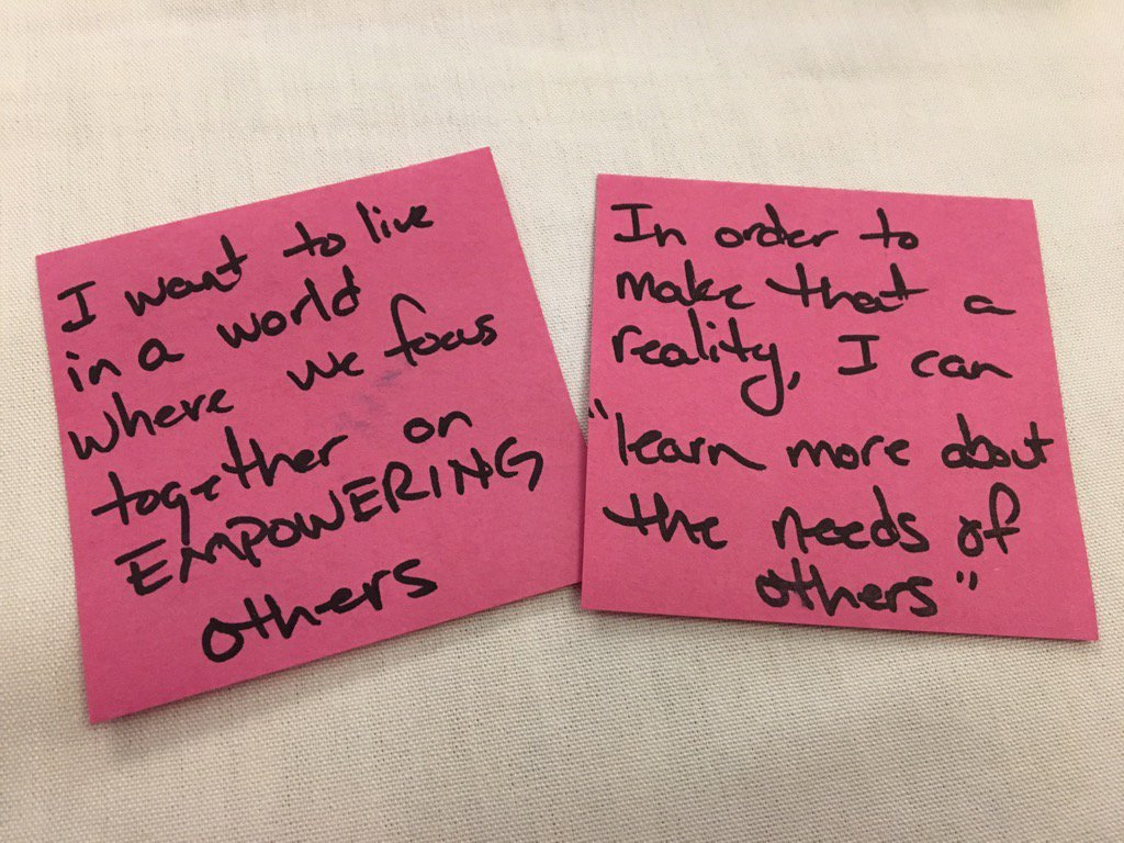 """""""I want to live in a world... of EMPOWERING OTHERS!"""" #ATLISac https://t.co/9OJWQfYgM9"""