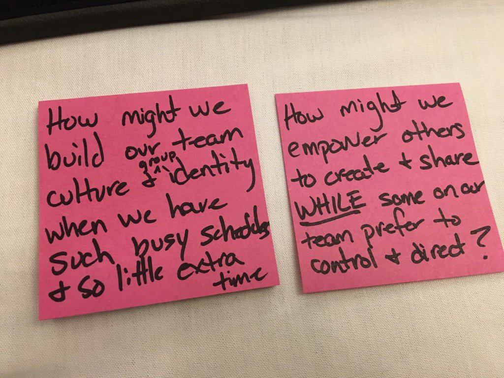 """""""How might we... WHILE..."""" by @rwelsh8 @mattscully #ATLISac #empowerment https://t.co/WEJ7CHfzfP"""