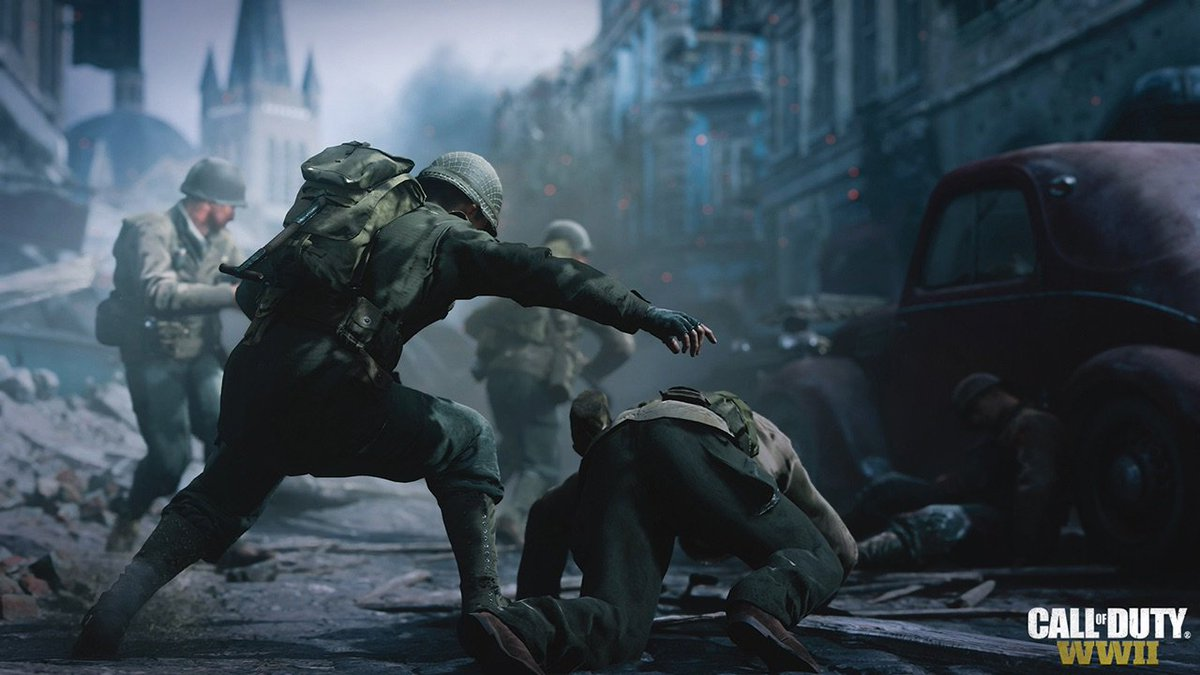 BREAKING: The first official #CODWWII in-game screenshots. https://t.c...