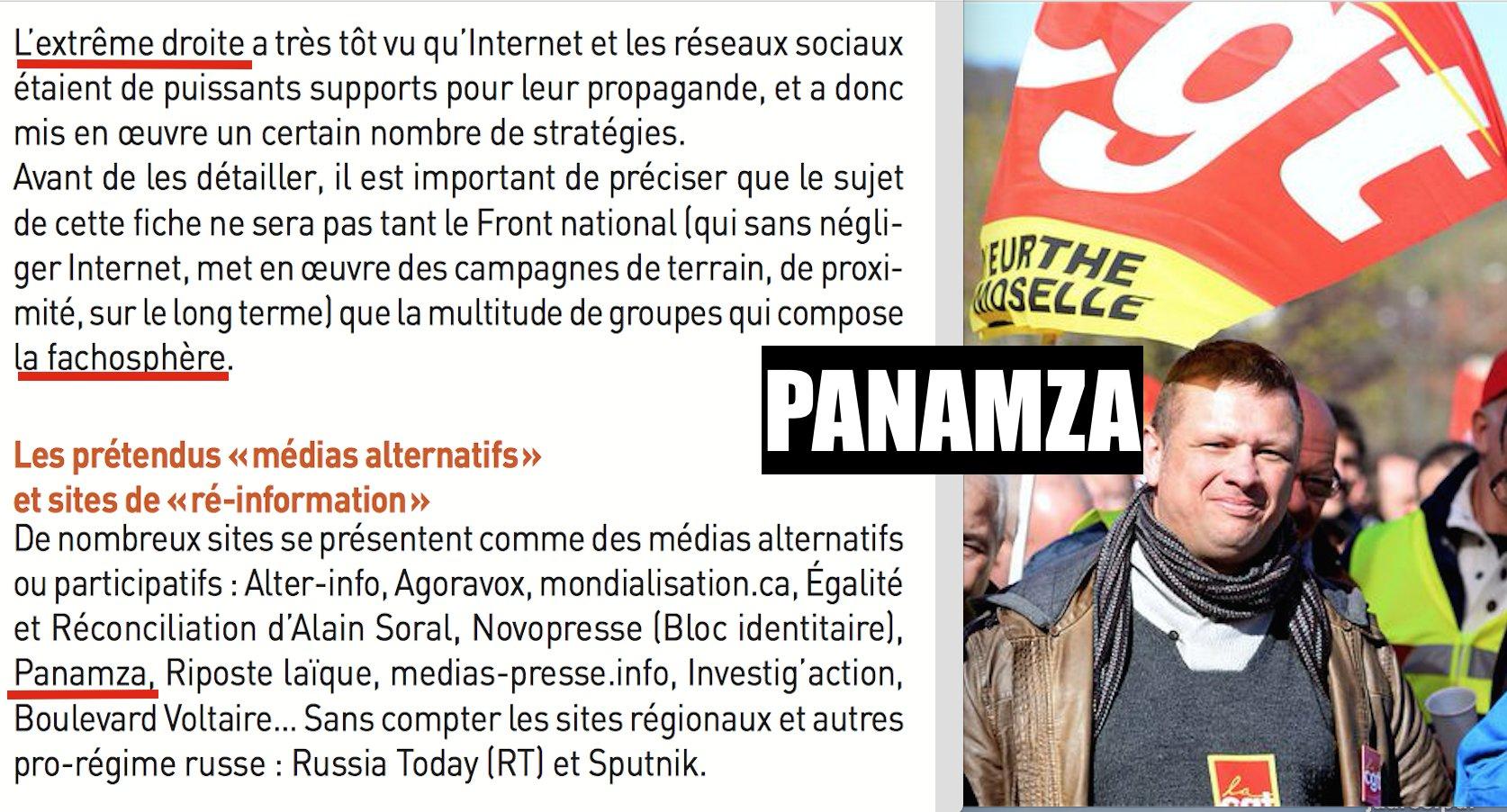 Bouffons : la CGT présente Panamza comme