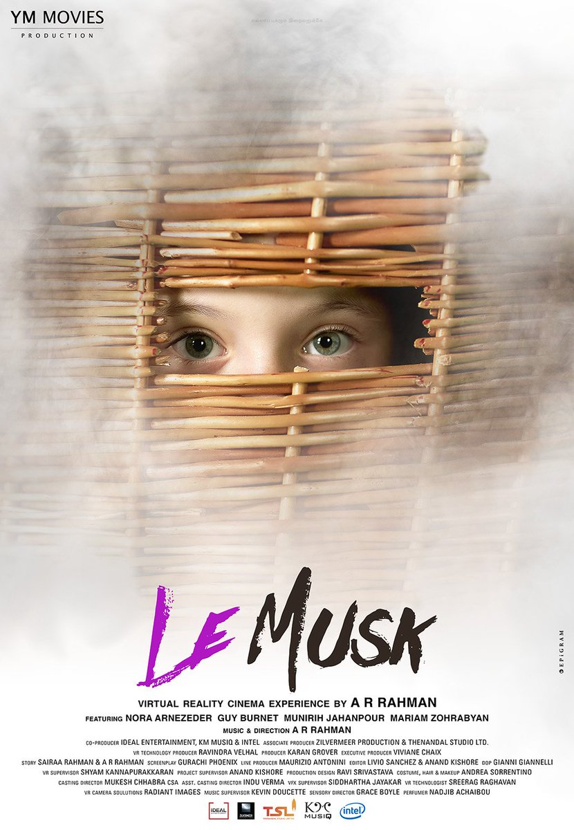 Replying to @LeMuskTheFilm: Presenting the official posters of #LeMusk,  a virtual reality cinema experience by @arrahman.