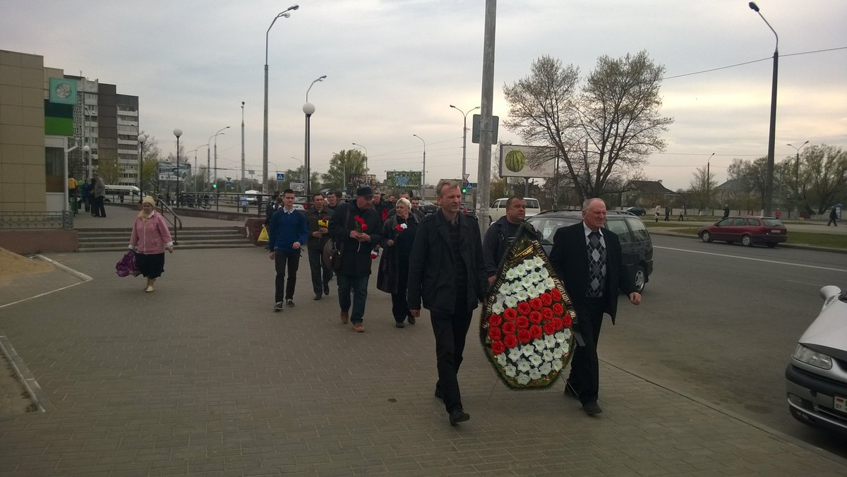 Gomel residents honored the memory of victims of the Chernobyl disaster