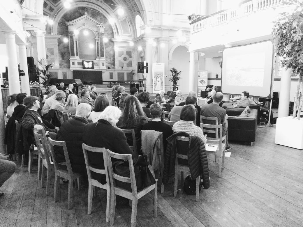 And we're off @asdescribed telling the @stpaulsworthing crowd about how #GEMINATE II came to be #digital #worthing https://t.co/N517Kg5wVJ