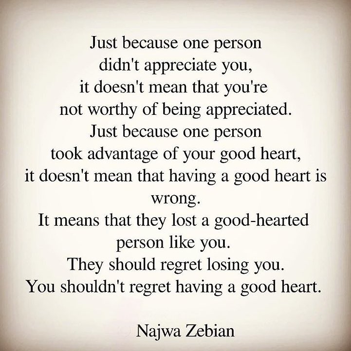 Having a good heart means