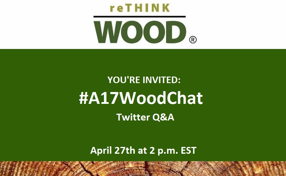 Join @PerkinsEastman, @ArupGroup & others for our #A17WoodChat during #A17Con to discuss the future of #wooddesign: https://t.co/rdEwwvSabt https://t.co/n531n4bYOp