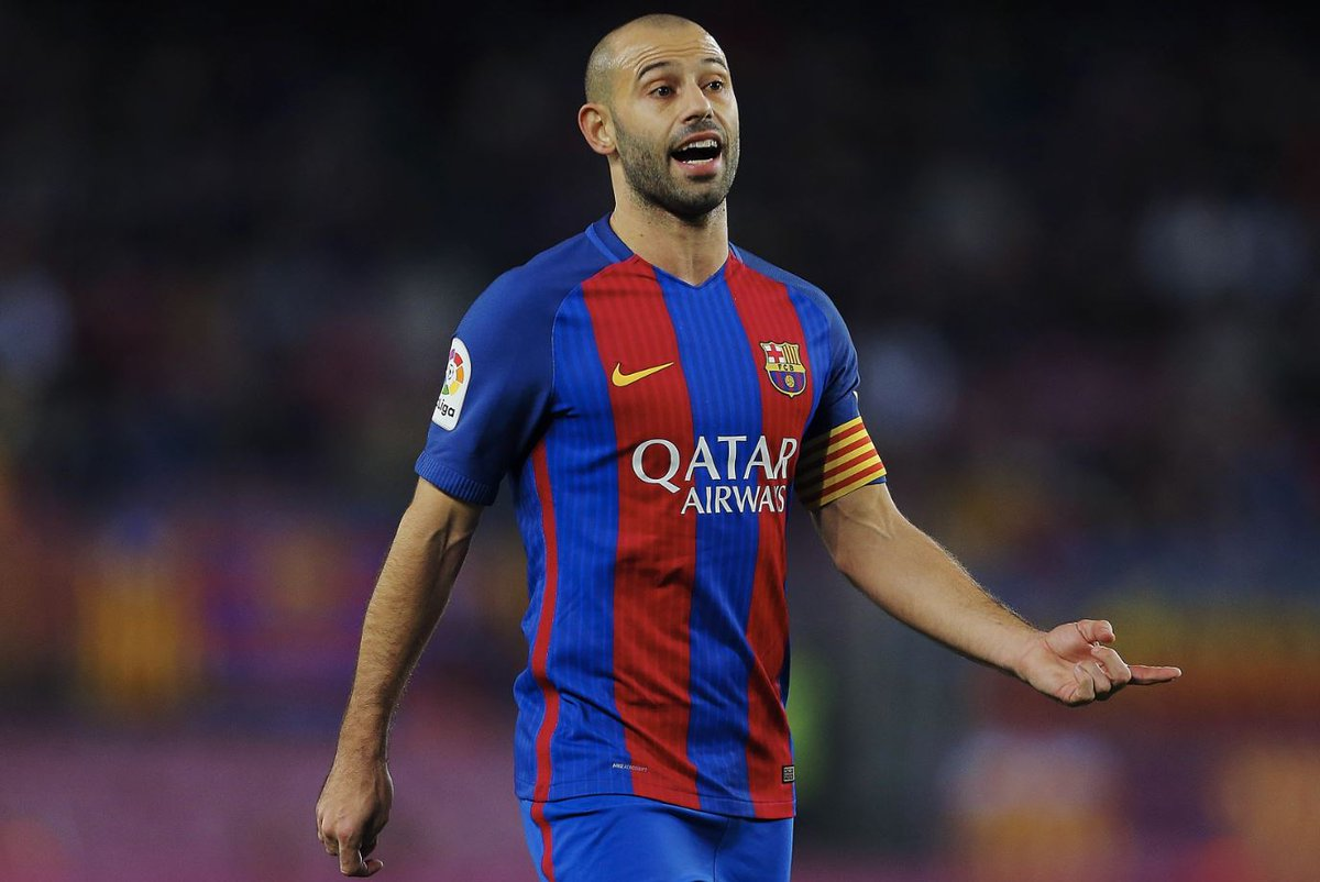 "Football Tweet on Twitter ""Javier Mascherano now needs just 501"