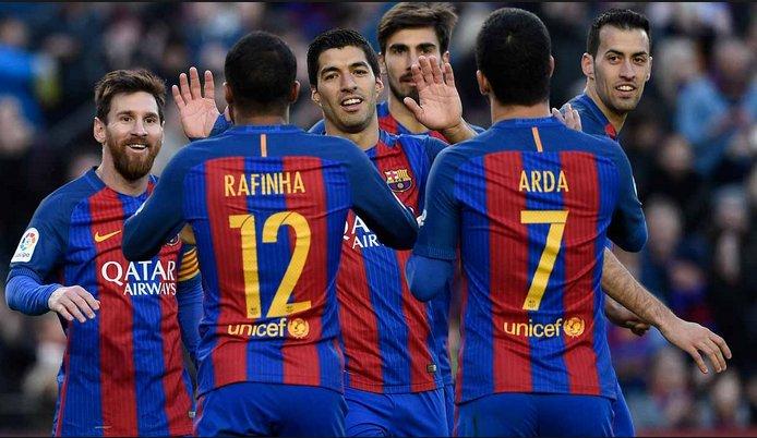 FULL TIME: Barcelona 7-1 Osasuna 😳  Unstoppable 🔥 https://t.co/seF1XuQ...