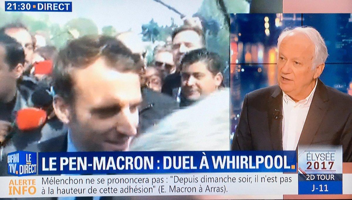 """@JeanMarieCAVADA sur #BFMTV #MLP : """"Je suis choqué qu'on passe un quart d'heure à faire des bisous à des gens qui vont perdre leur emploi!""""pic.twitter.com/9mGDlHUKuv"""