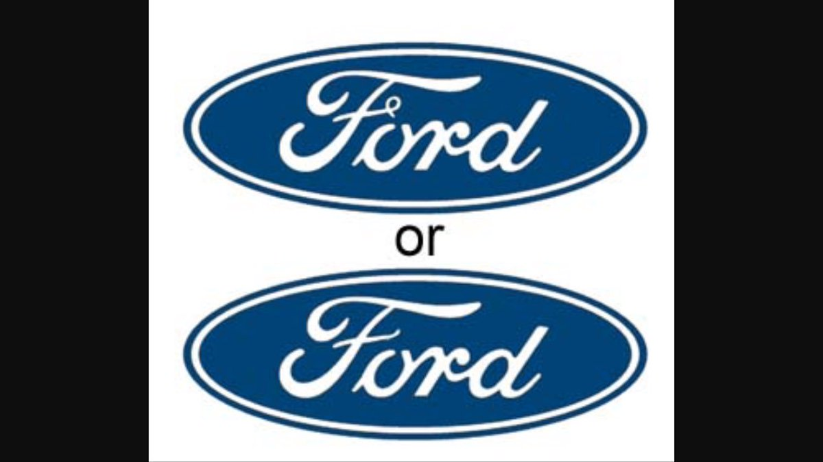The mandela effect on twitter some believe that the ford logo does not have the curly finish to the f but currently it does heres the side by side