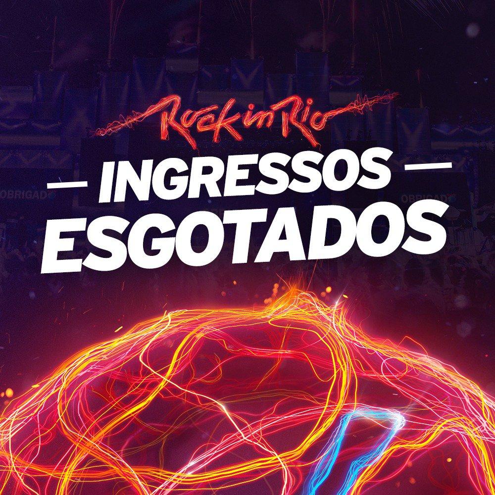 Os ingressos para o #RockinRio2017 estão ESGOTADOS!!! Pode começar a contar os dias! Nos vemos em setembro! 😉