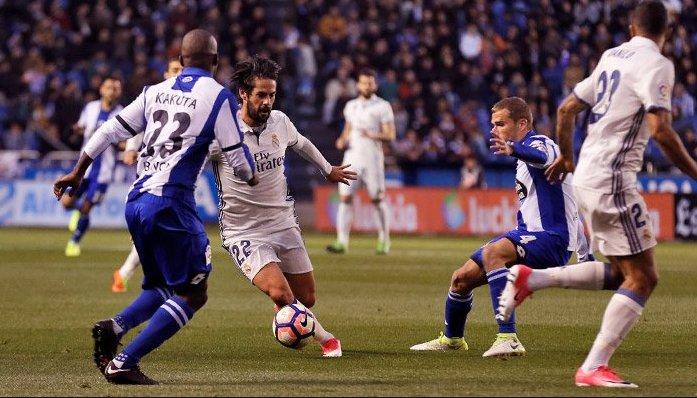 هدف ريال مدريد الخامس في مرمى ديبورتيفو