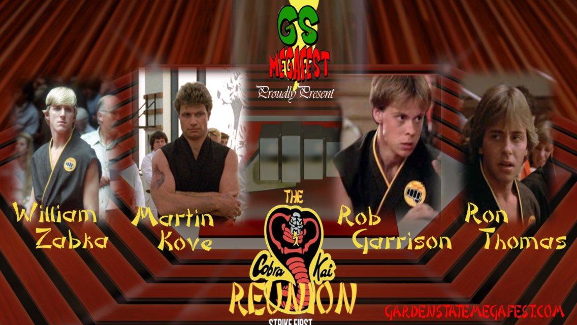 Rob Garrison On Twitter Come See Us All This Will Be Fun Njmegafest Billy Zabka Ron Thomas Martin Kove Get Him A Body Bag
