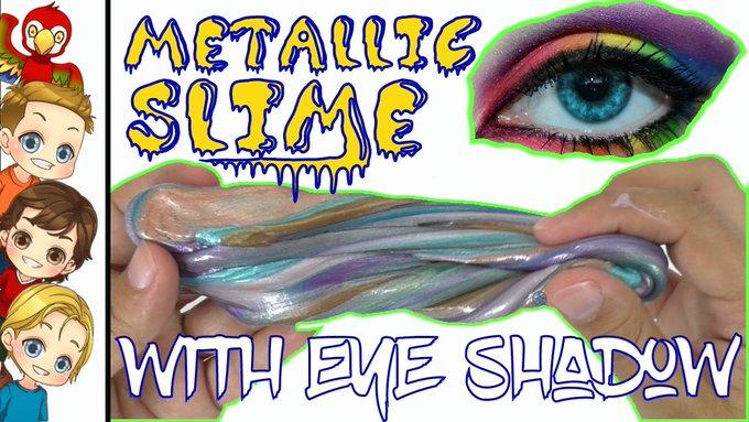 DIY Metallic Slime With Eye Shadow Tutorial