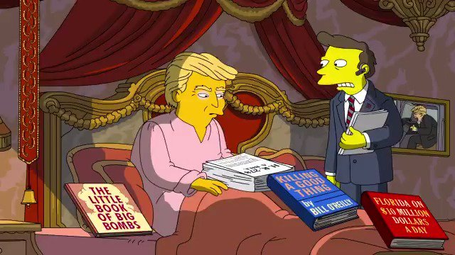 RT @aljwhite: The Simpsons vs Trump's first 100 days is amazing https://t.co/ECMxaLDrYR