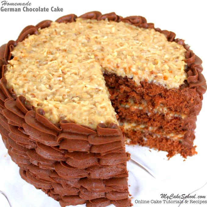 German Chocolate Cake Recipe! {Scratch}