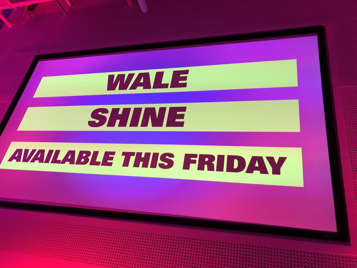 There's been a change of plans! @Wale is now dropping #Shine this Frid...