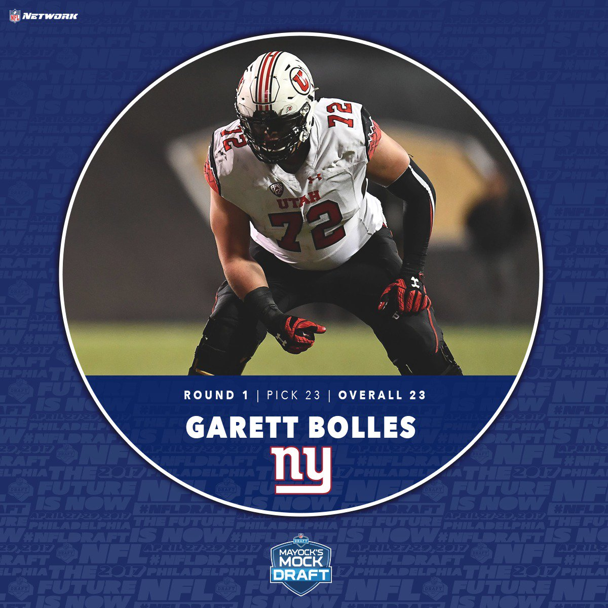 T Garett Bolles from Utah is going across the country! (23rd overall)...