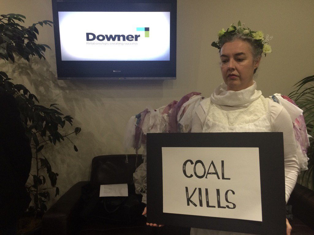 """Downer contracted to build infrastructure 4 Adani COAL. Climate Guardians advise """"NO"""" #stopadani https://t.co/y8Sw5KMdaa"""