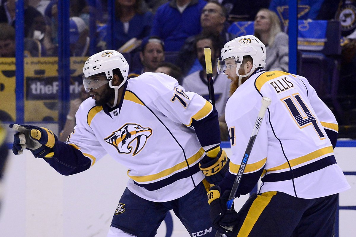 P.K. Subban is the first defenseman in Predators history to have 3 poi...