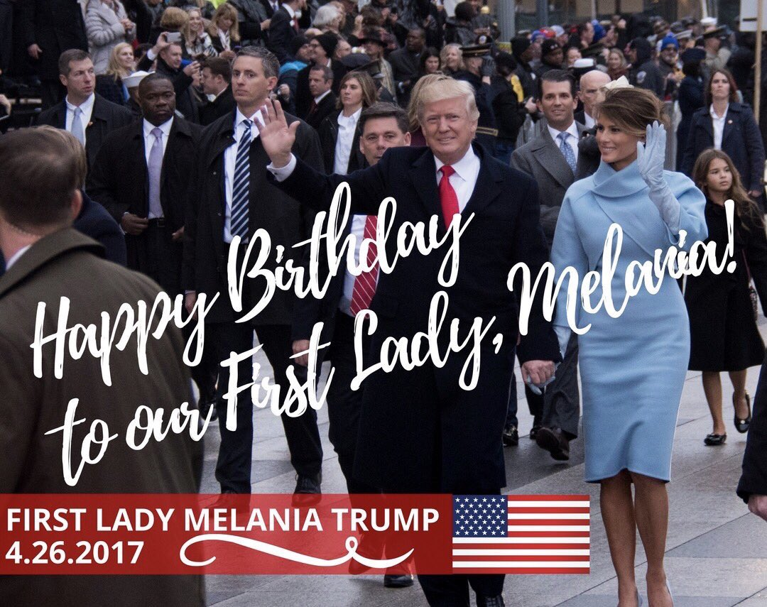 "Ivanka Trump shared a sweet message to celebrate First Lady (and ""incredible stepmom"") Melania Trump's birthday"