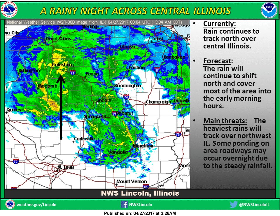 NWS Lincoln IL On Twitter Rain Will Continue To Move North - National weather service lincoln illinois