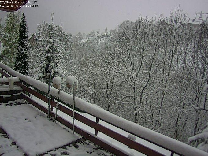 Amanece con nieve en Cerler, Abella y el valle de Arán: