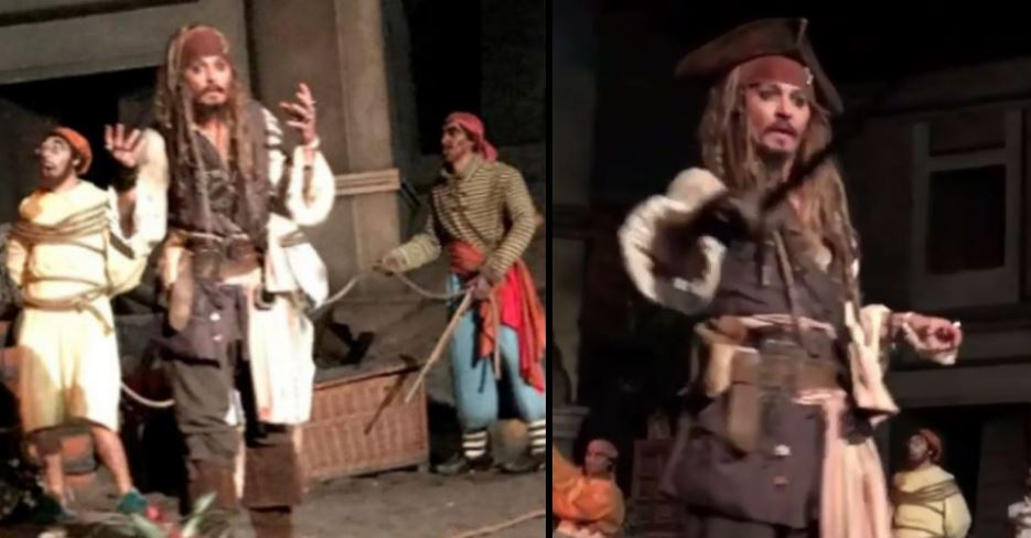 The real Johnny Depp surprised guests at Disneyland dressed as Jack Sp...