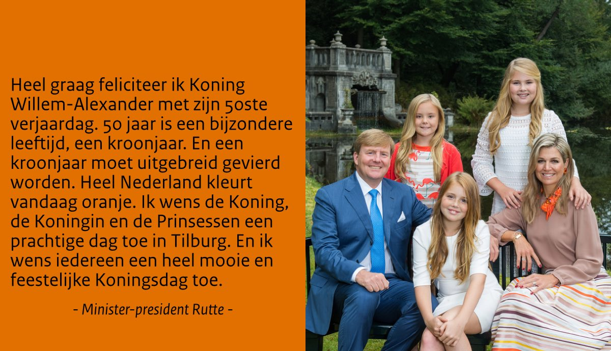 Mark Rutte On Twitter Heel Graag Feliciteer Ik Koning Willem