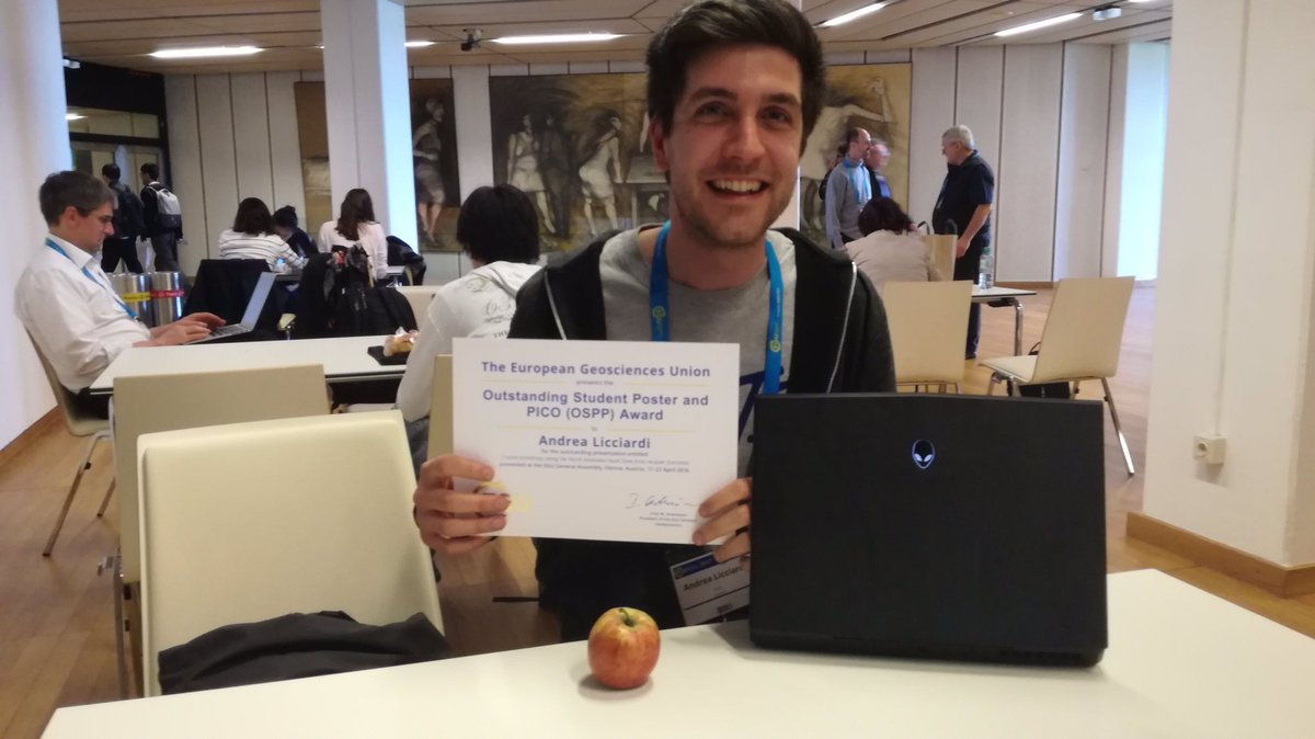 test Twitter Media - @dias_geophysics scholar, Andrea Licciardi has been awarded with the OSPP (Oustanding Student Poster and PICO) at #EGU17 in Vienna https://t.co/0rQ5Eg5yGR