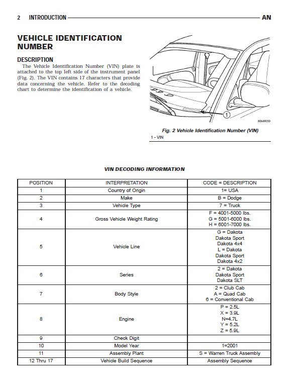 2001 dodge durango repair manual pdf