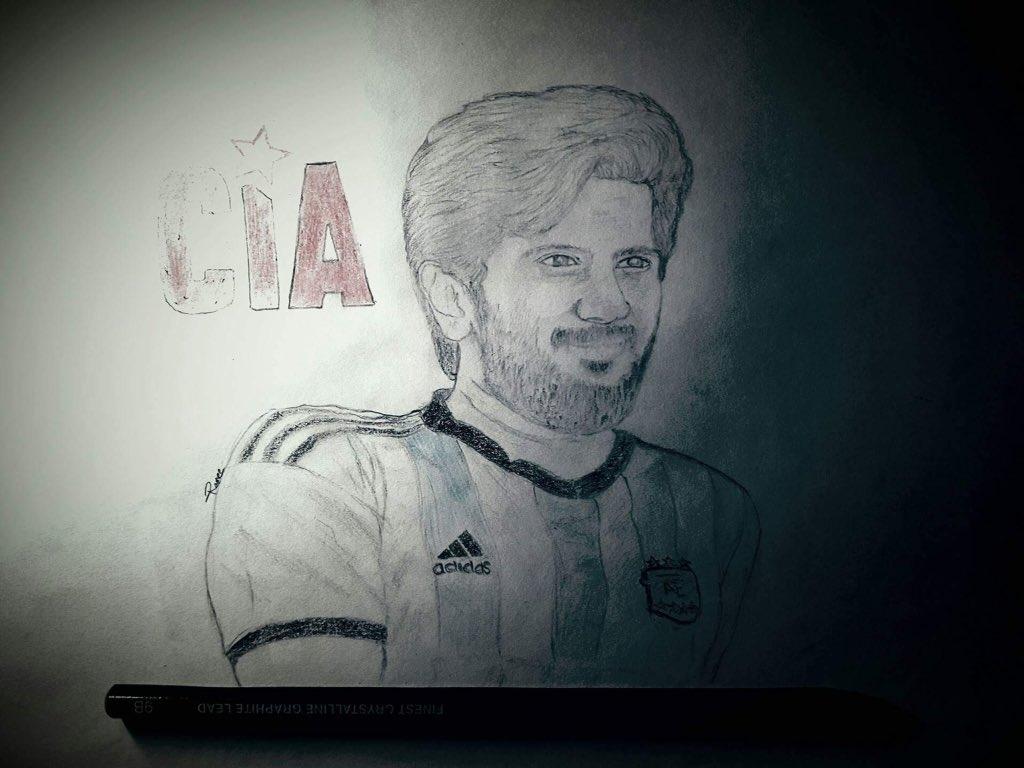 Art Dulquer Salmaan Pencil Drawing