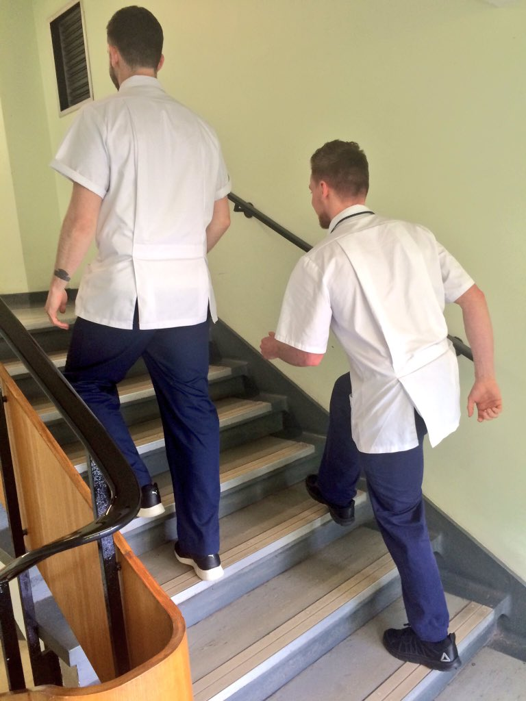 @caaliphysio @un_ncd See @GatesPhysio and @NUHTherapies colleague walking the stair talk for #NoElevatorsDay https://t.co/AYaAgq43SW