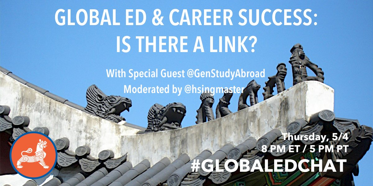 Join @GenStudyAbroad and @IIEglobal for #Globaledchat today! 8pmET/5pmPT https://t.co/uvpGBLzTFq
