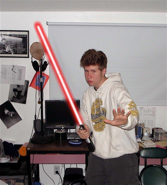 Happy may the 4th. This is me back in high school.  Even Photoshopped it myself https://t.co/9gJVDzxFli