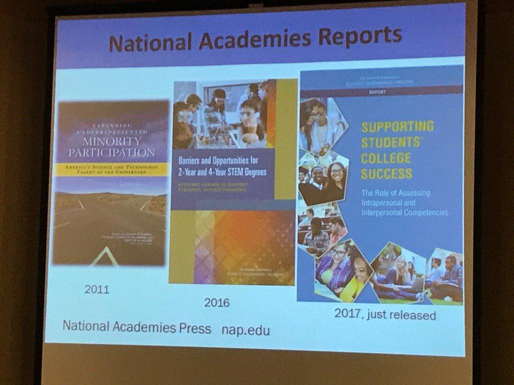 Reports relating to underrepresented minorities in #STEM via Dr Sylvia Hurtado @CSIC17 https://t.co/u0c4wgcMyP