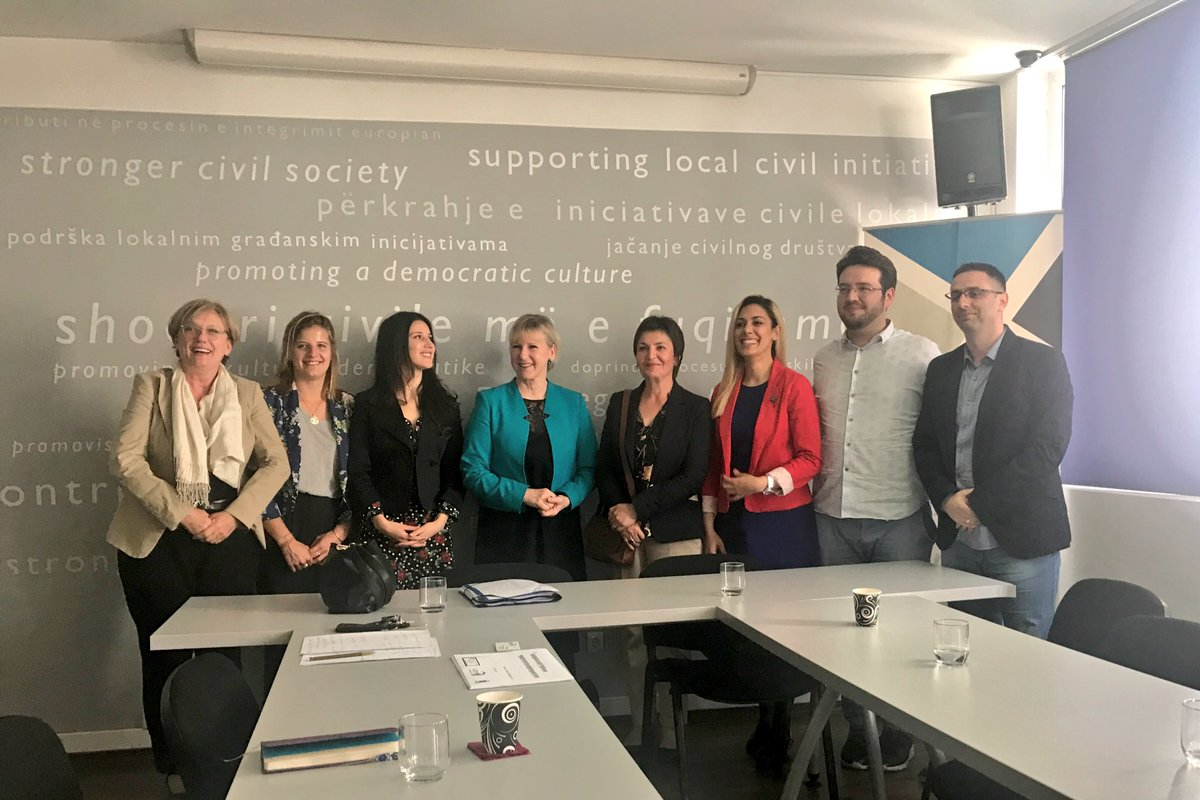 Also had the opportunity to meet with civil society (in photo), the opposition as well as EU and US reps – a very good day in Pristina.