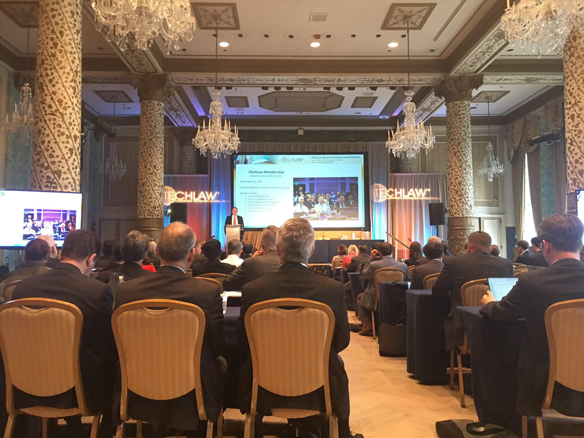 #ITLChicago kicking off @itechlaw_assn looking 4ward to an interesting day talking about latest trends in #tech & #law @ The Drake, Chicago https://t.co/8KbQmjOu5b