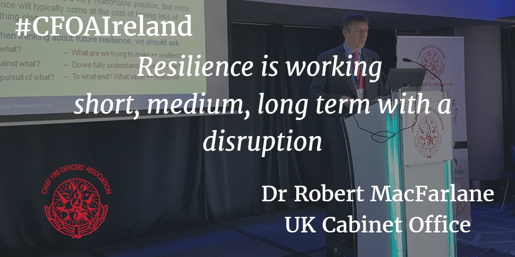 Resilience is like the story of the city. Dr Robert MacFarlane #CFOAIreland