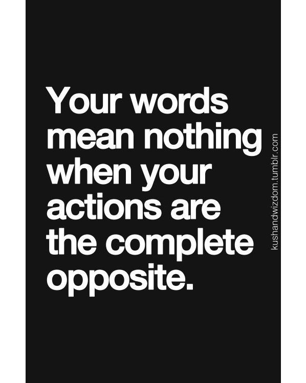 Actions speak louder than words dating